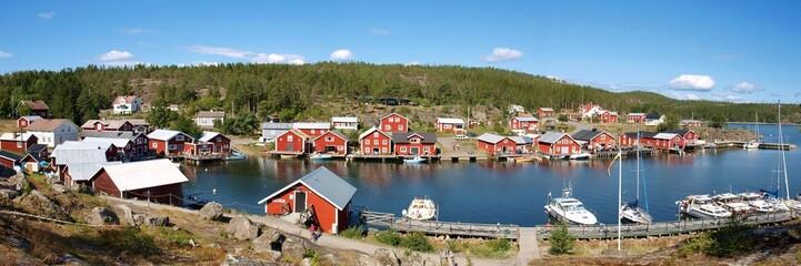 Panoramique village en Suède
