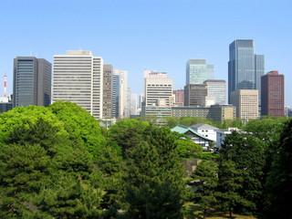 vue sur tokyo depuis le palais impérial