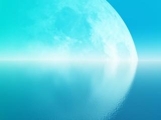 big cyan moon