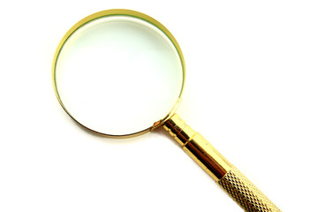 Magnifying lens isolated on white