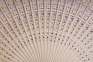 Sandal Wood chinese fan detail for background