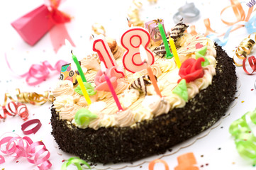 Birthday Cake For 21 Years Jubilee
