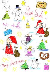 Christmas vector illustration like child draw
