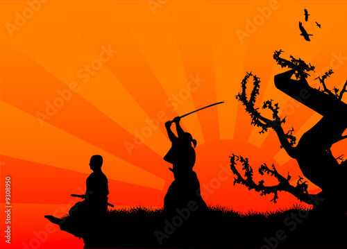 """samurai silhouette"" Stock image and royalty-free vector ..."