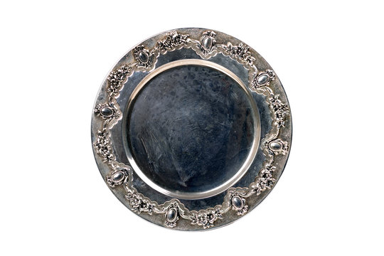 Old silver tray