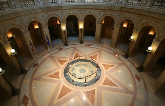 Center of St. Paul capitol building