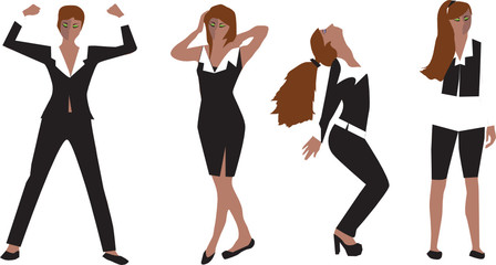 Fashion Girls. Vector Collection For Your Design.