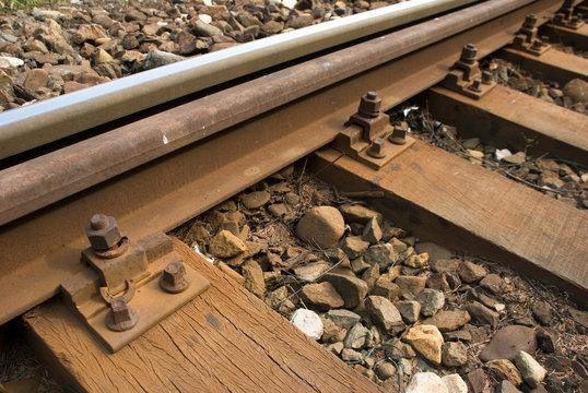 Old rusty rail