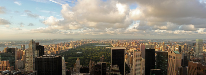Aerial view of Central Park in Manhattan, New York City