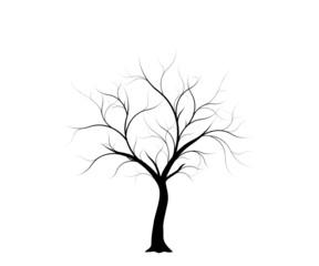 vecteur série, arbre en hiver - vector winter tree