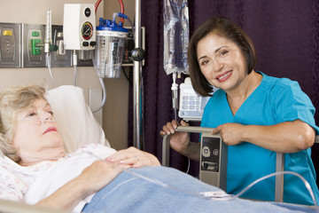 Doctor Checking Up On Senior Woman Patient