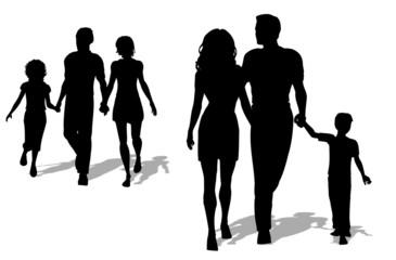 Familias paseando