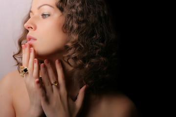 Beautiful woman. Fashion art photo. .Jewelry and Beauty