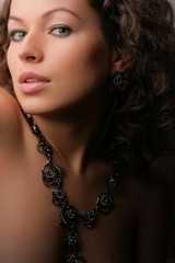 Beautiful woman. Fashion art photo. .Jewelry and Beauty