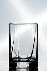 single empty crystal glass