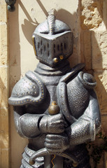 A puppet of a medieval knight