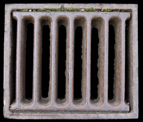 Close-up of a Grate covering a Sewer/Stormwater sump.