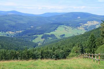 Spoed Foto op Canvas Groen blauw Krkonose Mountains, Czech Republic