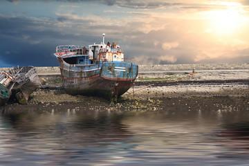 vecchia nave in secca