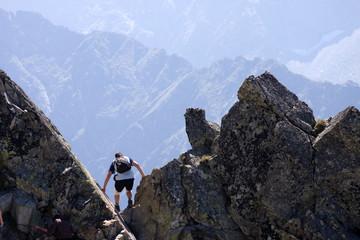trekking in high mountains