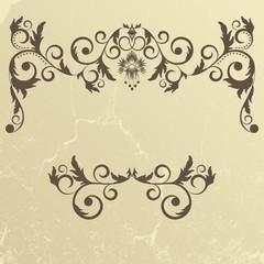 Vintage grunge beige frame