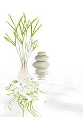 Fototapeta Zen Spa Stones and Bamboo