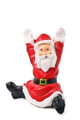 Santa Clause figurine isolated on white
