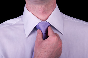 Businessman, closeup of a shirt and tie