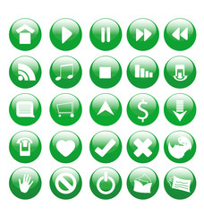 A large set of glossy icons