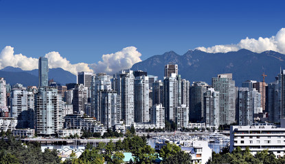 Canvas Print - City of Vancouver, home of the 2010 Winter Olympics.