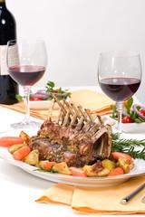 Rack of Lamb (ribs) with Rosemary garlic dressing