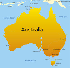 Abstract map of australian continent