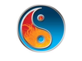 Jing Jang symbol isolated