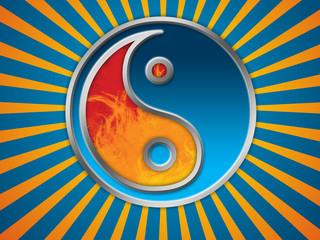 Jing Jang symbol background