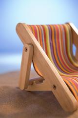 Miniature Deck Chair On Sand