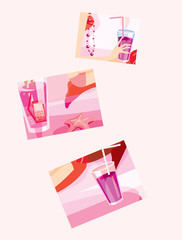 vector image of few drinks