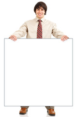 Young smiling  businessman. Isolated over  white background.