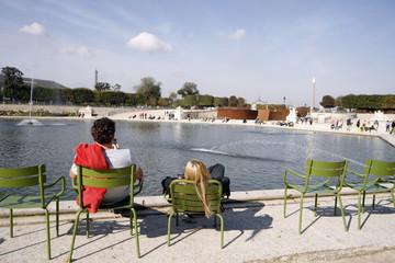 Obelisque Grand bassin Jardin des Tuileries Paris