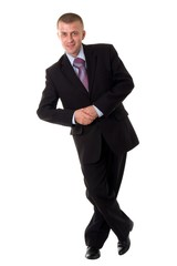smiling young businessman standing