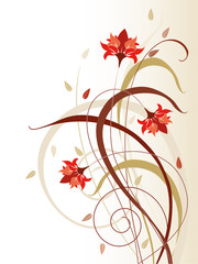 Abstract flower background
