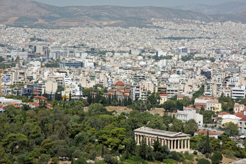 Athen mit Tempel