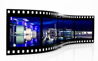 Millennium Square Bristol at night Film Strip