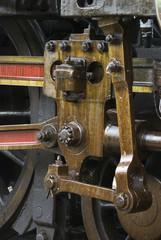 Running gear of old steam engine