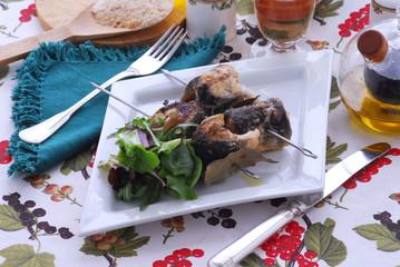 Spiedini di anguilla - Secondi di pesce