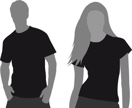 T-shirt Vorlage vector