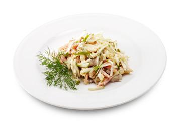 Salad Comprises Chopped Ham