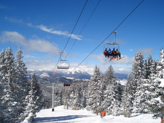 Winter Ski Lift