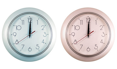 mechanical clocks of different colors