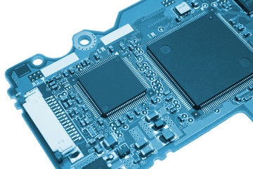 Computer board in blue style