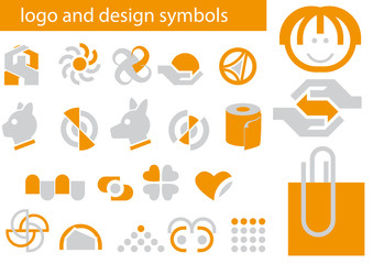 Vector set of logo and design symbols